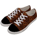 DAMASK1 BLACK MARBLE & RUSTED METAL Women s Low Top Canvas Sneakers View2