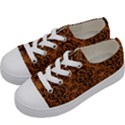 DAMASK1 BLACK MARBLE & RUSTED METAL Kids  Low Top Canvas Sneakers View2