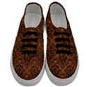 DAMASK1 BLACK MARBLE & RUSTED METAL Men s Classic Low Top Sneakers View1