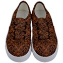 DAMASK1 BLACK MARBLE & RUSTED METAL Kids  Classic Low Top Sneakers View1