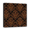 DAMASK1 BLACK MARBLE & RUSTED METAL (R) Mini Canvas 8  x 8  View1