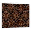 DAMASK1 BLACK MARBLE & RUSTED METAL (R) Canvas 24  x 20  View1