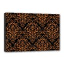 DAMASK1 BLACK MARBLE & RUSTED METAL (R) Canvas 18  x 12  View1