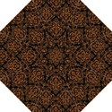 DAMASK1 BLACK MARBLE & RUSTED METAL (R) Straight Umbrellas View1