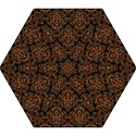 DAMASK1 BLACK MARBLE & RUSTED METAL (R) Mini Folding Umbrellas View1