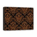 DAMASK1 BLACK MARBLE & RUSTED METAL (R) Deluxe Canvas 16  x 12   View1