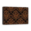 DAMASK1 BLACK MARBLE & RUSTED METAL (R) Deluxe Canvas 18  x 12   View1