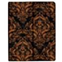 DAMASK1 BLACK MARBLE & RUSTED METAL (R) Apple iPad 2 Flip Case View1