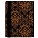 DAMASK1 BLACK MARBLE & RUSTED METAL (R) Samsung Galaxy Tab 10.1  P7500 Flip Case View2