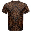 DAMASK1 BLACK MARBLE & RUSTED METAL (R) Men s Cotton Tee View1