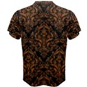 DAMASK1 BLACK MARBLE & RUSTED METAL (R) Men s Cotton Tee View2