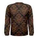 DAMASK1 BLACK MARBLE & RUSTED METAL (R) Men s Long Sleeve Tee View2