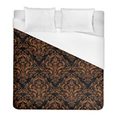 Damask1 Black Marble & Rusted Metal (r) Duvet Cover (full/ Double Size)