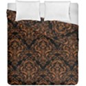 DAMASK1 BLACK MARBLE & RUSTED METAL (R) Duvet Cover Double Side (California King Size) View1
