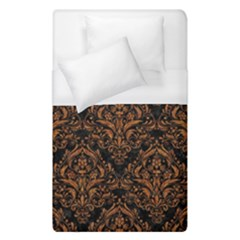 Damask1 Black Marble & Rusted Metal (r) Duvet Cover (single Size)