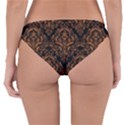 DAMASK1 BLACK MARBLE & RUSTED METAL (R) Reversible Hipster Bikini Bottoms View2