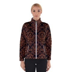 Damask1 Black Marble & Rusted Metal (r) Winterwear