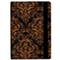 DAMASK1 BLACK MARBLE & RUSTED METAL (R) Apple iPad Pro 9.7   Flip Case View2