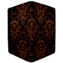 DAMASK1 BLACK MARBLE & RUSTED METAL (R) Apple iPad Pro 9.7   Flip Case View3