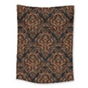 DAMASK1 BLACK MARBLE & RUSTED METAL (R) Medium Tapestry View1