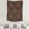 DAMASK1 BLACK MARBLE & RUSTED METAL (R) Medium Tapestry View2