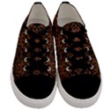 DAMASK1 BLACK MARBLE & RUSTED METAL (R) Men s Low Top Canvas Sneakers View1