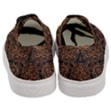 DAMASK1 BLACK MARBLE & RUSTED METAL (R) Women s Classic Low Top Sneakers View4