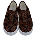 DAMASK1 BLACK MARBLE & RUSTED METAL (R) Kids  Classic Low Top Sneakers View1