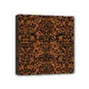 DAMASK2 BLACK MARBLE & RUSTED METAL Mini Canvas 4  x 4  View1