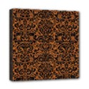 DAMASK2 BLACK MARBLE & RUSTED METAL Mini Canvas 8  x 8  View1