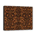 DAMASK2 BLACK MARBLE & RUSTED METAL Canvas 10  x 8  View1