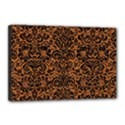 DAMASK2 BLACK MARBLE & RUSTED METAL Canvas 18  x 12  View1