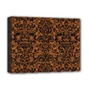 DAMASK2 BLACK MARBLE & RUSTED METAL Deluxe Canvas 16  x 12   View1