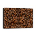 DAMASK2 BLACK MARBLE & RUSTED METAL Deluxe Canvas 18  x 12   View1