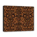 DAMASK2 BLACK MARBLE & RUSTED METAL Deluxe Canvas 20  x 16   View1
