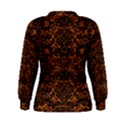 DAMASK2 BLACK MARBLE & RUSTED METAL Women s Sweatshirt View2