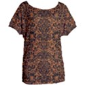 DAMASK2 BLACK MARBLE & RUSTED METAL Women s Oversized Tee View1