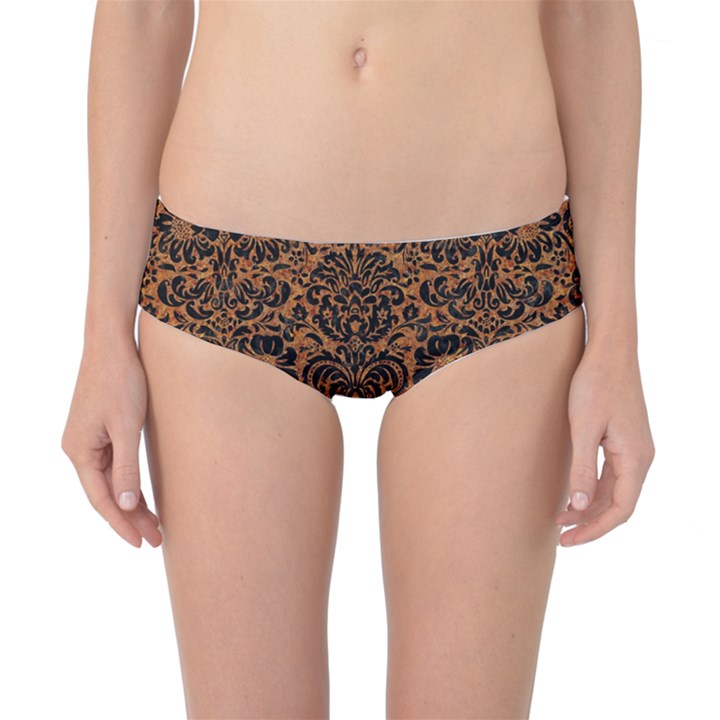 DAMASK2 BLACK MARBLE & RUSTED METAL Classic Bikini Bottoms
