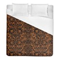 DAMASK2 BLACK MARBLE & RUSTED METAL Duvet Cover (Full/ Double Size) View1