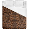 DAMASK2 BLACK MARBLE & RUSTED METAL Duvet Cover (California King Size) View1