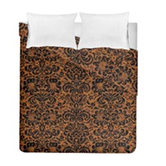 Damask2 Black Marble & Rusted Metal Duvet Cover Double Side (full/ Double Size)