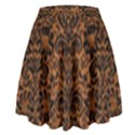 DAMASK2 BLACK MARBLE & RUSTED METAL High Waist Skirt View2
