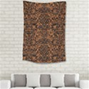 DAMASK2 BLACK MARBLE & RUSTED METAL Small Tapestry View2