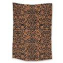 DAMASK2 BLACK MARBLE & RUSTED METAL Large Tapestry View1
