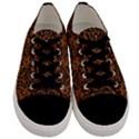 DAMASK2 BLACK MARBLE & RUSTED METAL Men s Low Top Canvas Sneakers View1