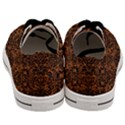DAMASK2 BLACK MARBLE & RUSTED METAL Men s Low Top Canvas Sneakers View4