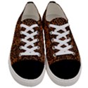 DAMASK2 BLACK MARBLE & RUSTED METAL Women s Low Top Canvas Sneakers View1