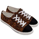 DAMASK2 BLACK MARBLE & RUSTED METAL Women s Low Top Canvas Sneakers View3