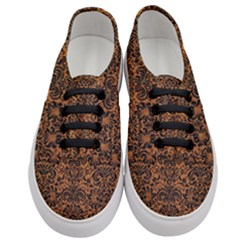 Damask2 Black Marble & Rusted Metal Women s Classic Low Top Sneakers