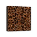 DAMASK2 BLACK MARBLE & RUSTED METAL (R) Mini Canvas 4  x 4  View1